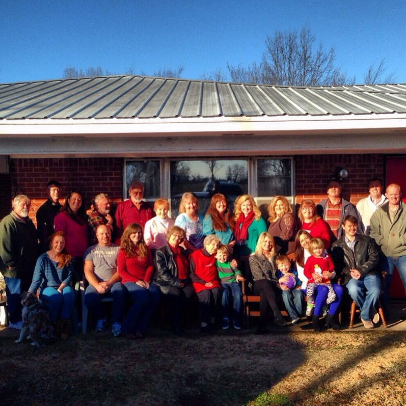 The last family photo made at Grandma's house. Christmas 2013.